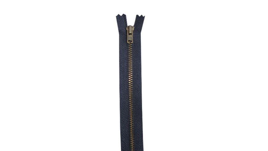 YKK Reissverschluss unteilbar mit schmaler Metallkette 12 cm
