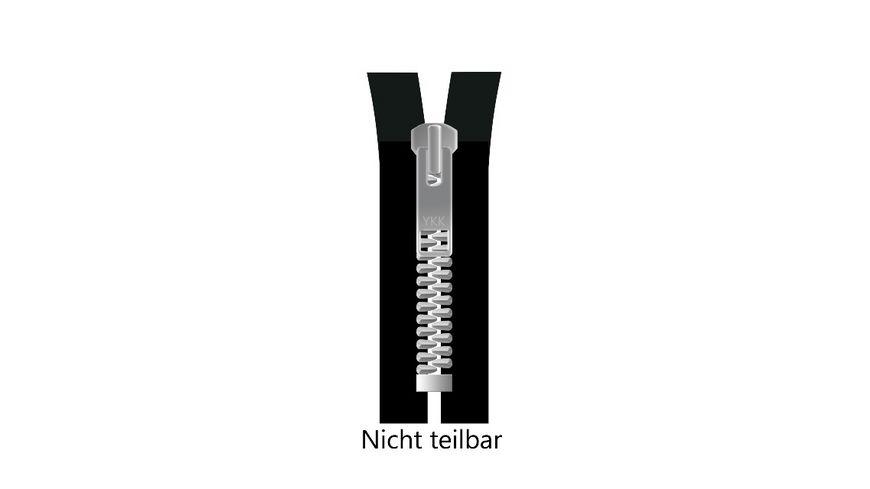 YKK Reissverschluss unteilbar mit schmaler Metallkette 8 cm