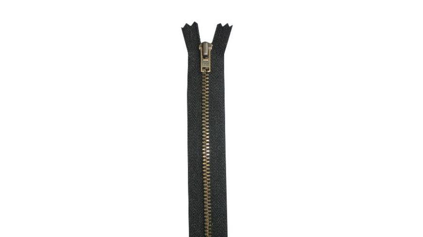 YKK Reißverschluss unteilbar mit schmaler Metallkette - 18 cm