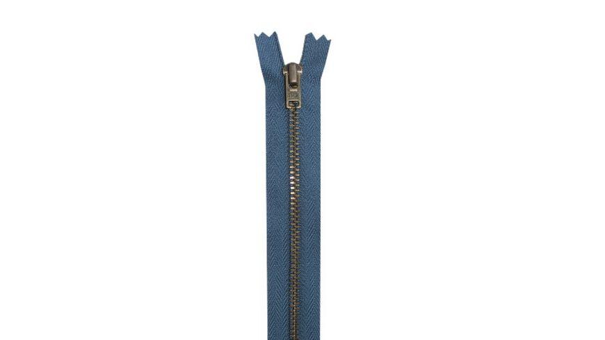YKK Reißverschluss unteilbar mit schmaler Metallkette - 8 cm