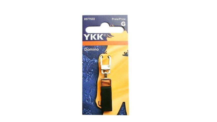 YKK Griffplatte Domino schwarz