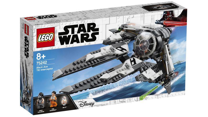 LEGO Star Wars 75242 TIE Interceptor Allianz Pilot