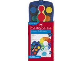 FABER CASTELL Farbkasten Connector 12 Farben blau