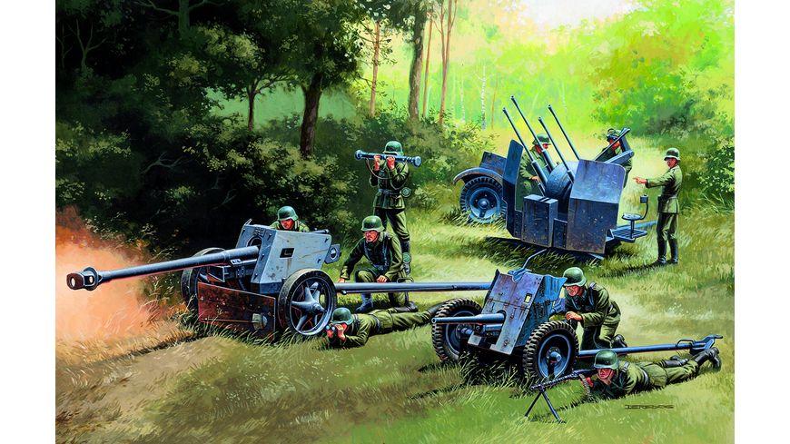 Italeri 510007026 1 72 German Guns Set PAK35 PAK40 FLAK38