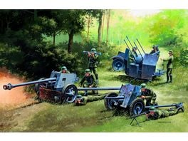Italeri 510007026 1 72 German Guns Set PAK35 PAK40 FLAK38