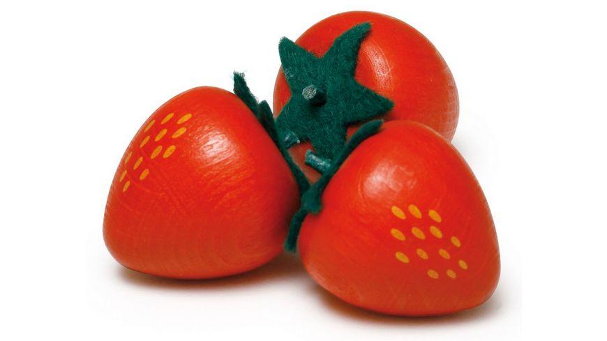 Erzi Kaufladen Obst Erdbeere