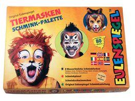 Eulenspiegel 208038 Tiermasken Schmink Palette