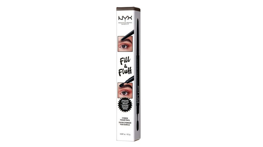NYX PROFESSIONAL MAKEUP Augenbrauenstift Fill Fluff Eyebrow Pomade Pencil