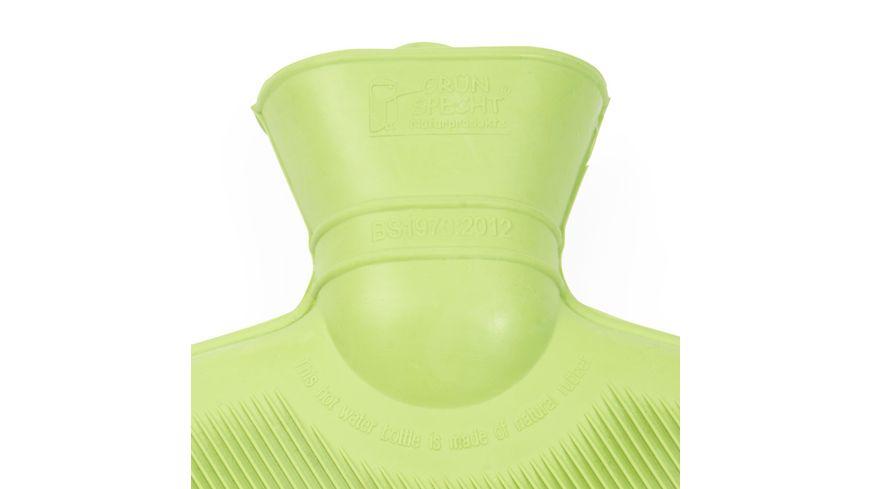 Gruenspecht Naturprodukte Bio Waermflasche mit Bezug