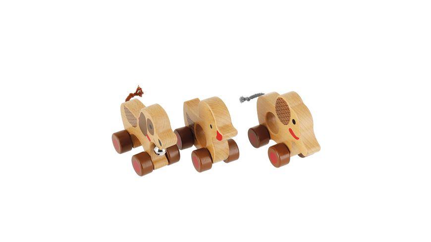 Bieco Rollertier mit Glocke 1 Stueck sortiert