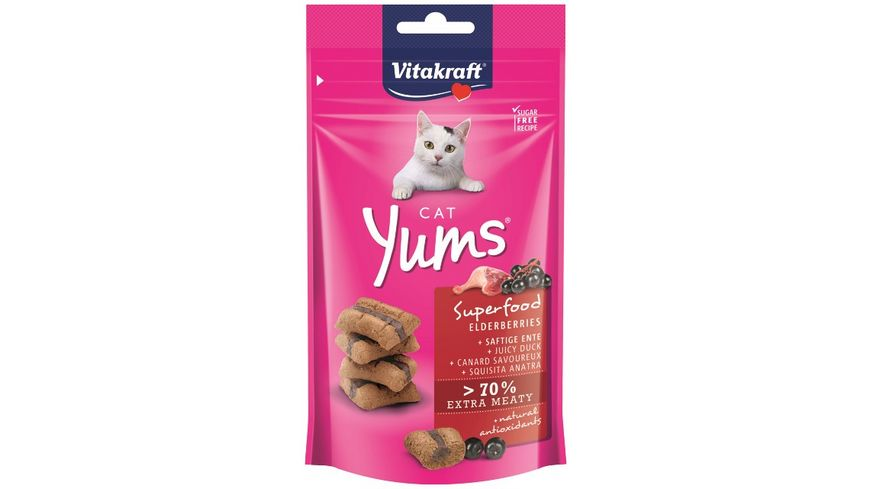 Vitakraft Katzensnack Cat Yums Superfood Holunder