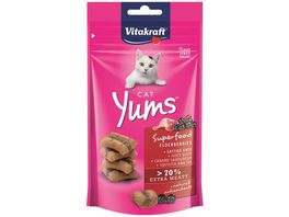 Vitakraft Katzensnack Cat Yums Superfood Holunder