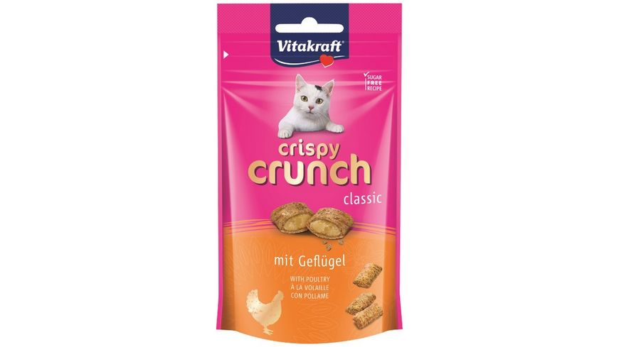 Vitakraft Katzensnack Crispy Crunch Gefluegel