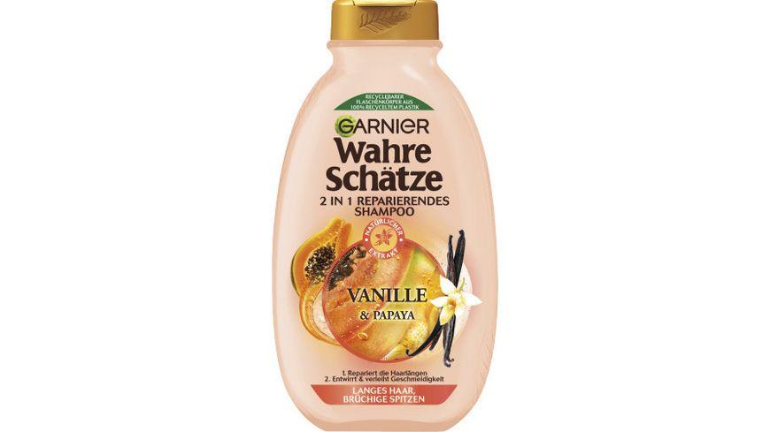 GARNIER Wahre Schaetze Langhaar Schatz Vanille Papaya Shampoo