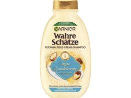 GARNIER Wahre Schaetze Naehrendes Creme Shampoo Argan Mandelcreme