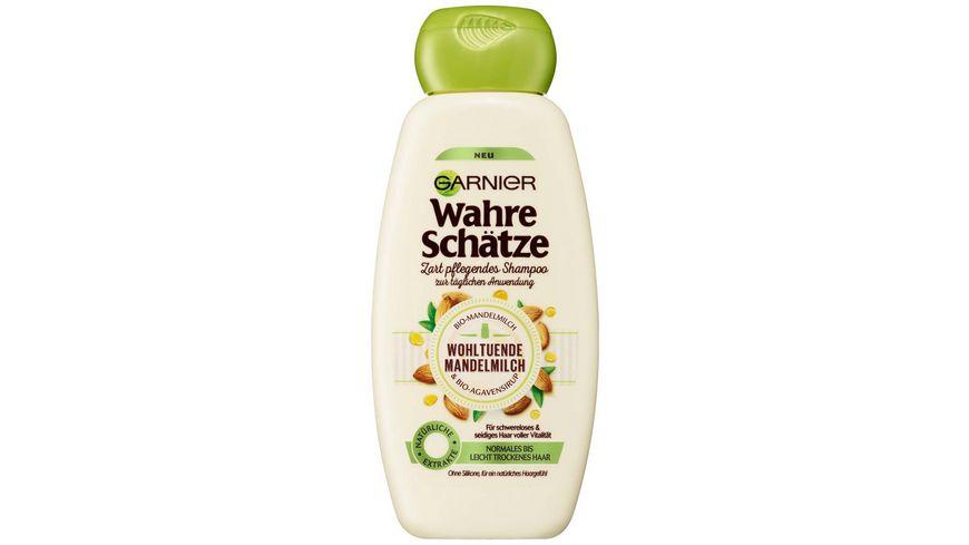 GARNIER Wahre Schaetze Zart Pflegendes Shampoo Wohltuende Mandelmilch