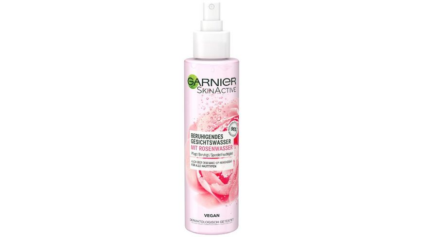 GARNIER SkinActive Beruhigendes Gesichtswasser Spray mit Rosenwasser