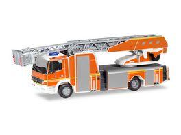 Herpa 094337 Mercedes Benz Atego Rosenbauer Drehleiter Feuerwehr Ingolstadt