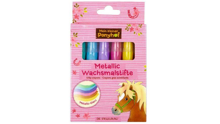 Die Spiegelburg Metallic Wachsmalstifte Mein kleiner Ponyhof