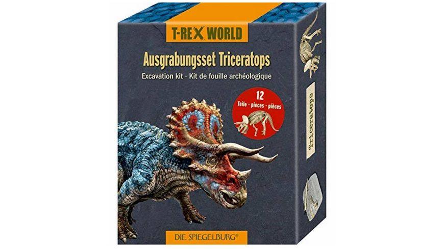 Die Spiegelburg - Ausgrabungsset Triceratops T-Rex World (ca.18x7x4 cm)
