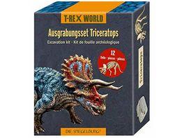 Die Spiegelburg Ausgrabungsset Triceratops T Rex World ca 18x7x4 cm