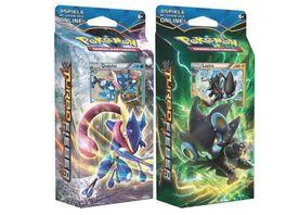 Pokemon Sammelkartenspiel Themendeck SM10 Ninjawelle Augenblitz 1 Stueck sortiert