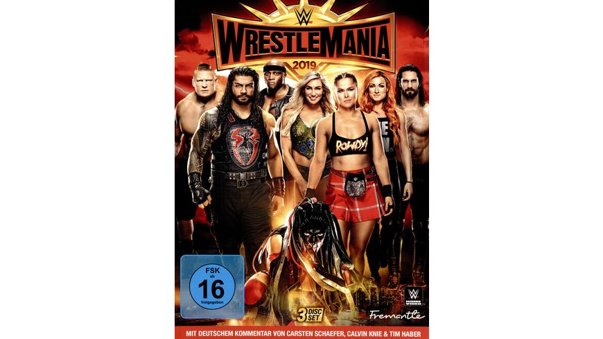 Wrestlemania 35 3 DVDs