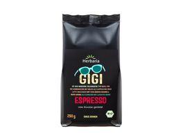 Herbaria Gigi Espresso ganz bio 250g