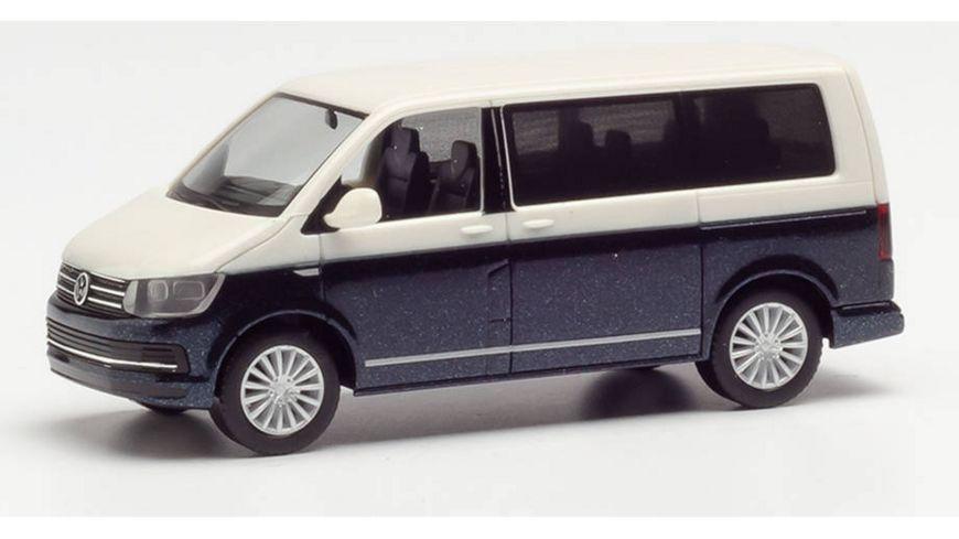 Herpa 038730 VW T6 Multivan Bicolor candyweiss kurkumagelb metallic
