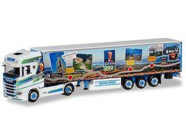 Herpa 309981 Scania CS 20 Hochdach Gardinenplanen Sattelzug Hoehner Raiffeisenliner