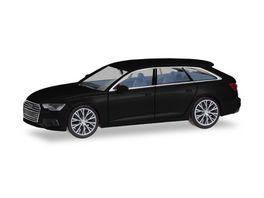 Herpa 430685 Audi A6 Avant brillantschwarz mit zweifarbigen Felgen