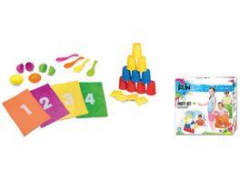 Xtrem Toys Heimspiel Fun PARTY SET Dosenwerfen Sackhuepfen Eierlaufen