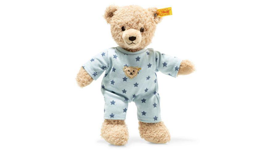 Steiff Teddy and Me Teddybaer Junge Baby mit Schlafanzug 25 cm blau