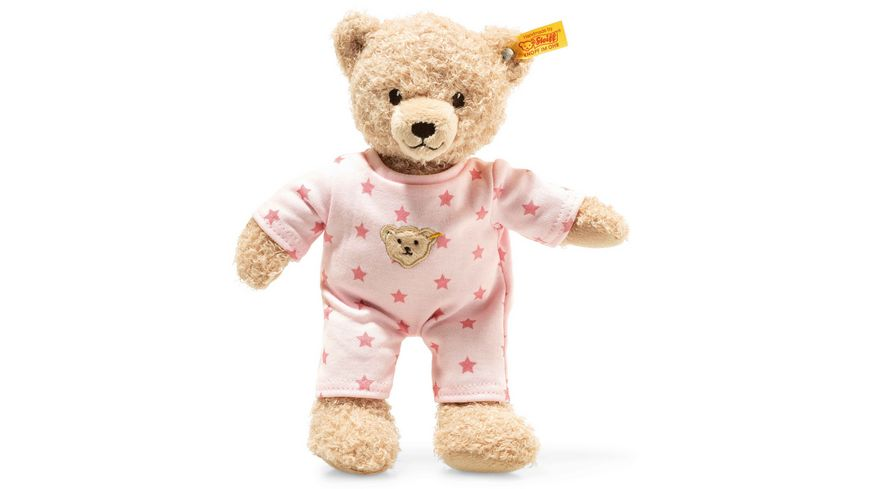 Steiff Teddy and Me Teddybaer Maedchen Baby mit Schlafanzug 25 cm rosa