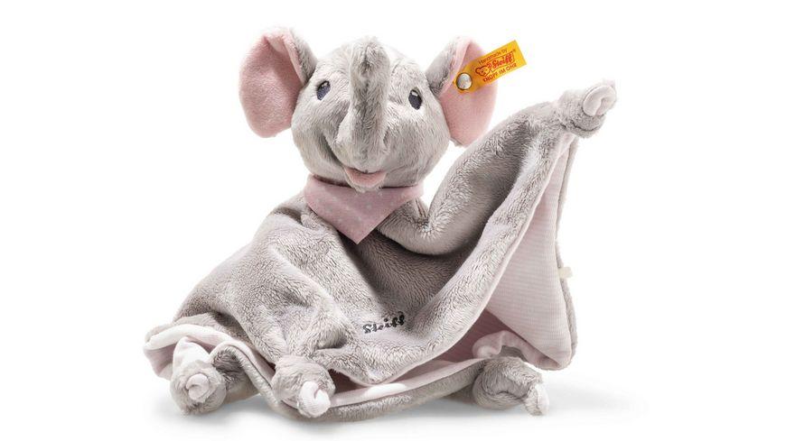 Steiff Trampili Elefant Schmusetuch 28 x 27 cm rosa