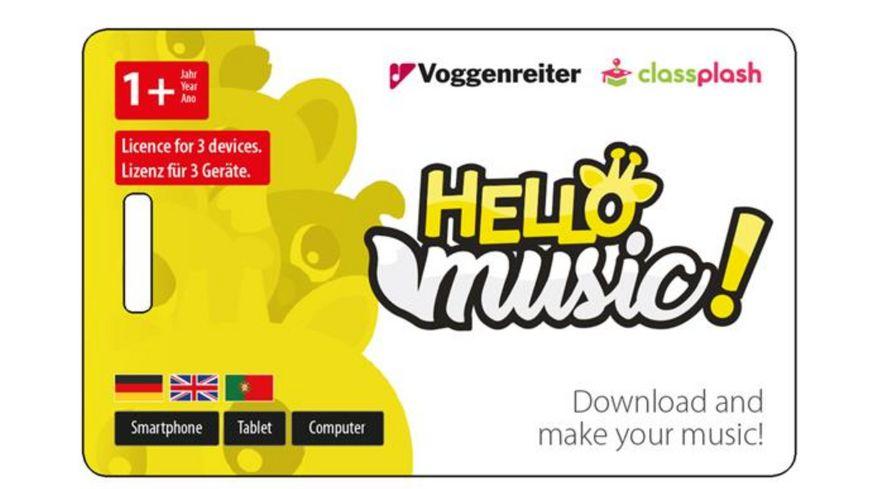 Voggenreiter Hello Music Maracas Set mit App Lernsoftware 1 Stueck sortiert