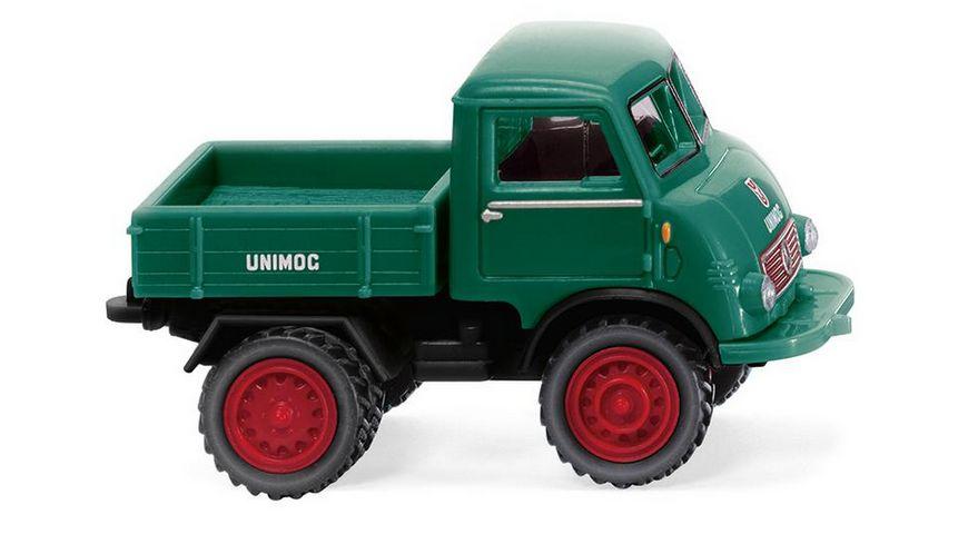 Wiking 0368 03 Unimog U 401 mit Doppelbereifung moosgruen 1 87