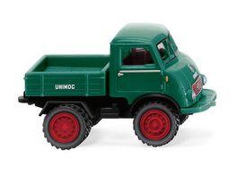 WIKING 036803 Unimog U 401 mit Doppelbereifung moosgruen 1 87