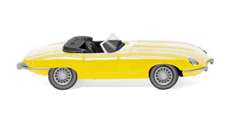 Wiking 0817 06 Jaguar E Type Roadster gelb 1 87