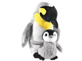 Heunec Misanimo Pinguin mit Baby 30 cm
