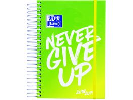 Oxford Schuelerkalender 2019 2020 NEVER GIVE UP neon