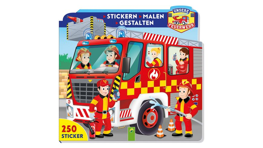 Unsere Feuerwehr Stickern Malen Gestalten
