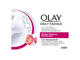 OLAY Daily Facials 5 in 1 Reinigungstuecher fuer normale Haut