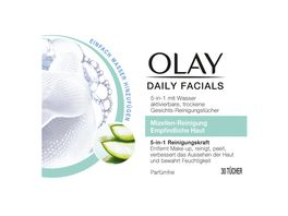 OLAY Daily Facials 5 in 1 Reinigungstuecher fuer empfindliche Haut
