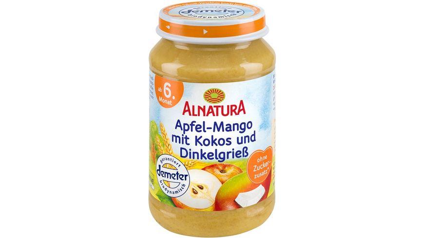 Alnatura Apfel Mango mit Kokos und Dinkelgriess