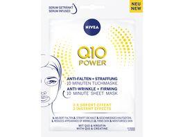 NIVEA Q10 POWER Anti Falten Straffung 10 Minuten Tuchmaske