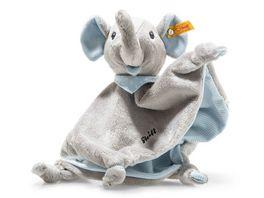 Steiff Trampili Elefant Schmusetuch 28 x 27 cm blau