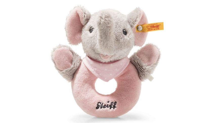 Steiff Trampili Elefant Greifring mit Rassel 12 cm rosa