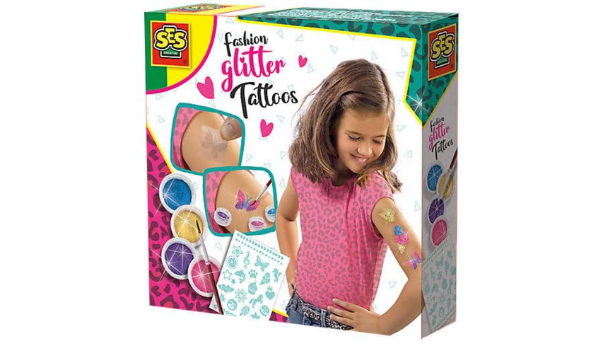 SES Creative Fashion Glitter Tattoos