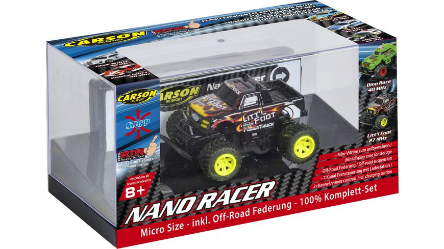 Carson 1 60 Nano Racer Litt l Foot MHz 100 RTR